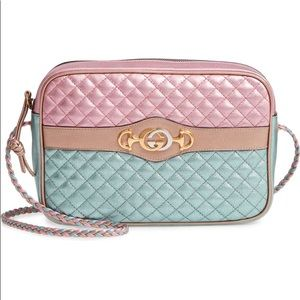 NWT Gucci Trapuntata Metallic Pastel Bag